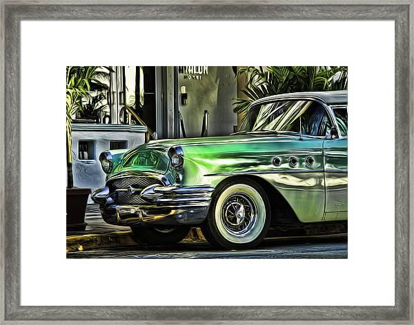 Green Buick Framed Print