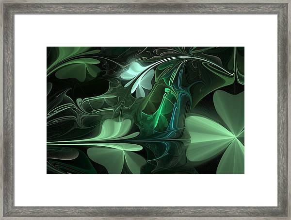 Green Clover Field Framed Print