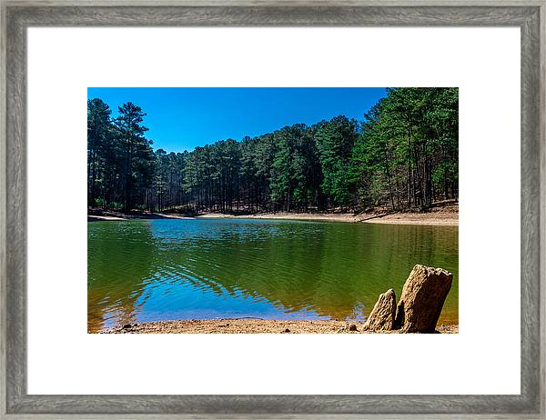 Green Cove Framed Print