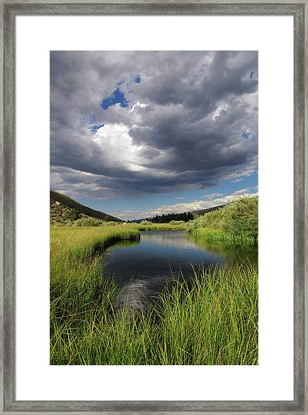 Green Creek 2 By Frank Hawkins Framed Print