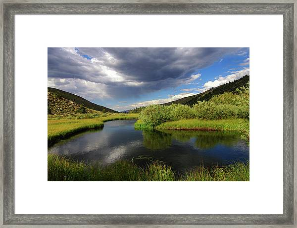 Green Creek By Frank Hawkins Framed Print