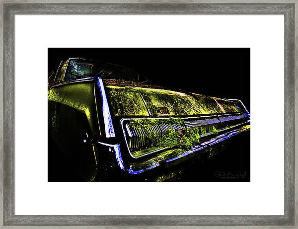 Framed Print featuring the photograph Green Dodge Glory by Glenda Wright