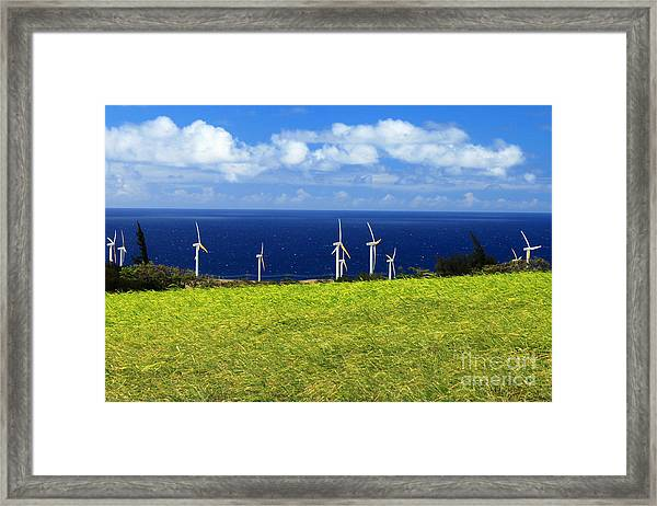 Green Energy Framed Print