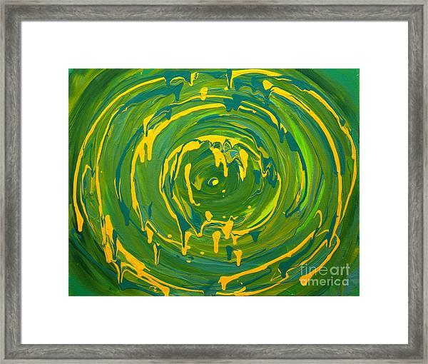 Green Forest Swirl Framed Print
