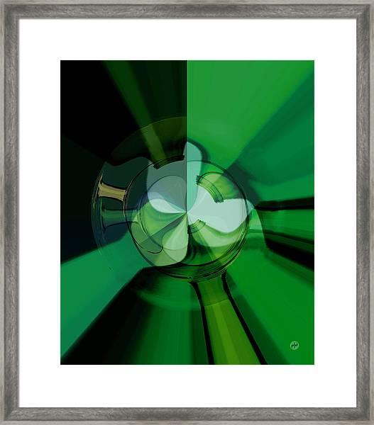 Green Glass Wheels Framed Print