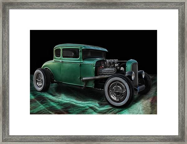 Green Hot Rod Framed Print