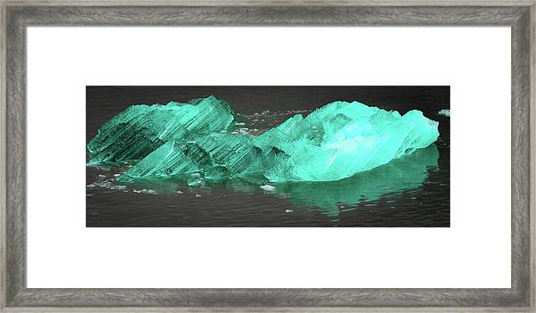 Green Iceberg Framed Print