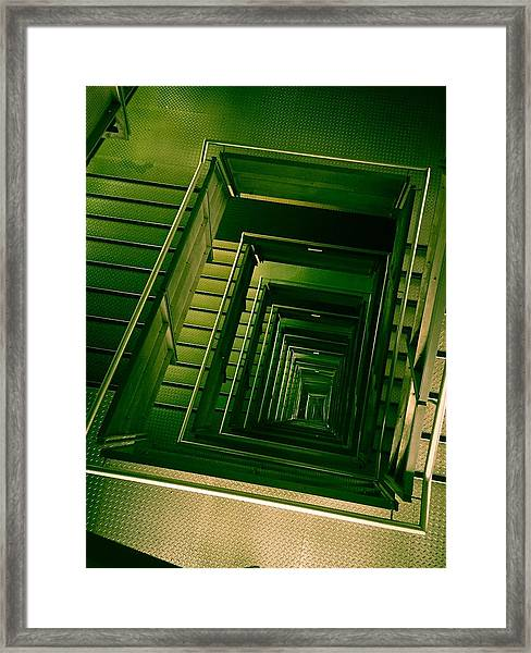 Green Infinity Framed Print