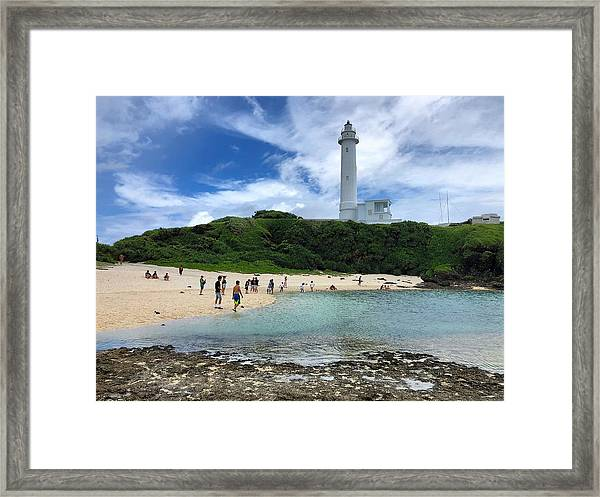 Green Island Beach Framed Print