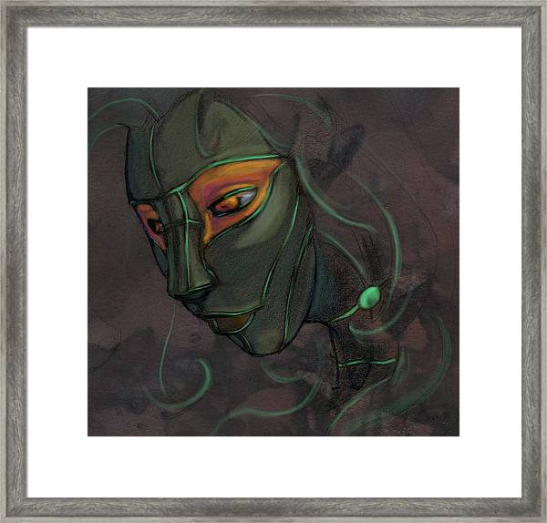 Green Lady Framed Print by Jamie Lindenmeier