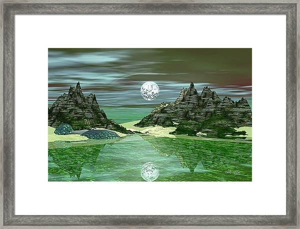 Green Lake Framed Print