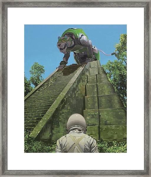 Green Lion Framed Print