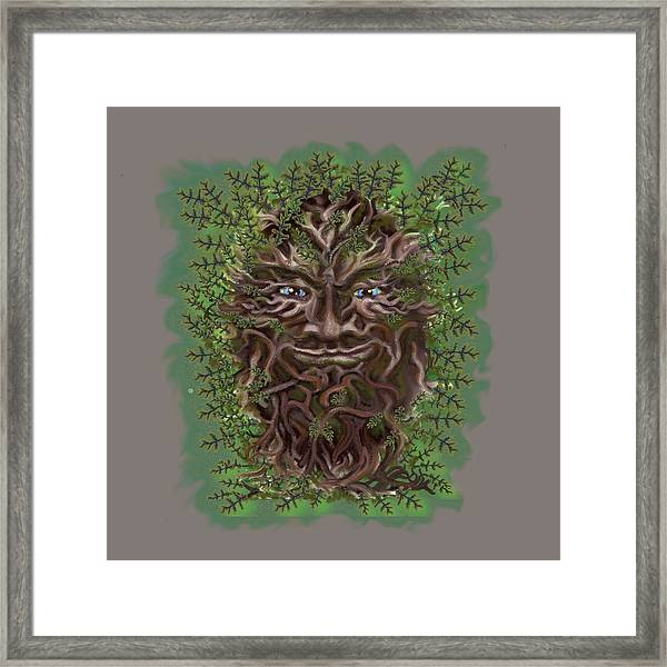 Green Man Of The Forest Framed Print