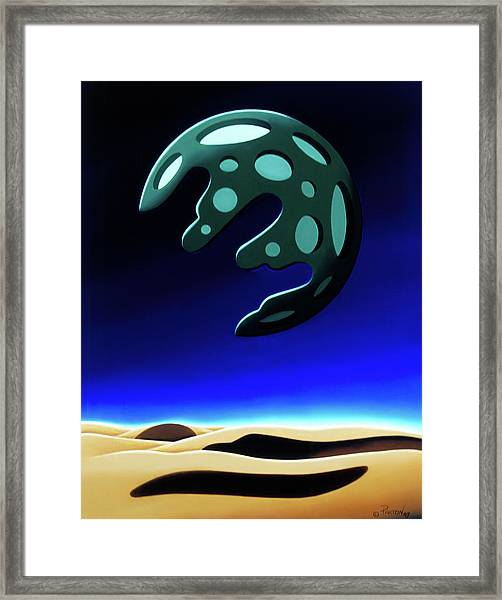 Green Moon Rising Framed Print