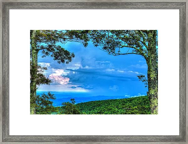 Green Mountain Storm Framed Print