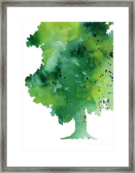 Green Oak Fine Art Print Framed Print