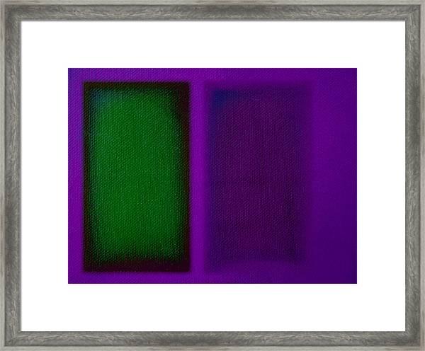 Green On Magenta Framed Print