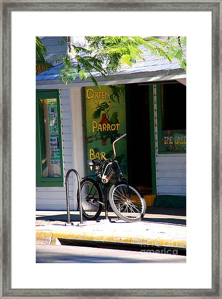 Green Parrot Bar Key West Framed Print