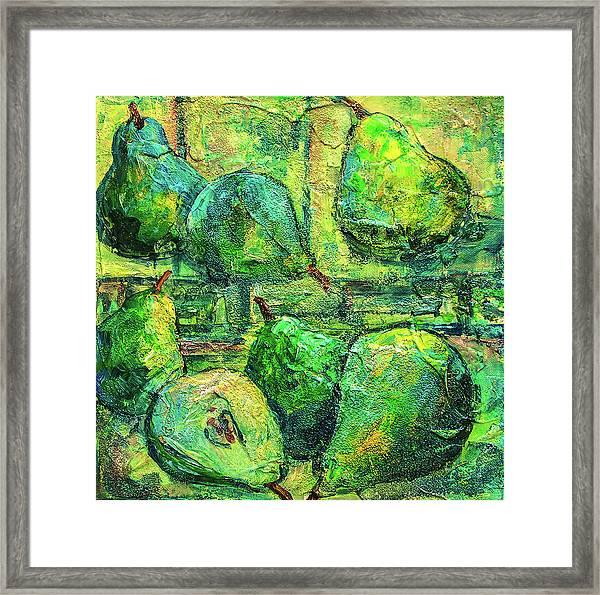 Green Pears Framed Print