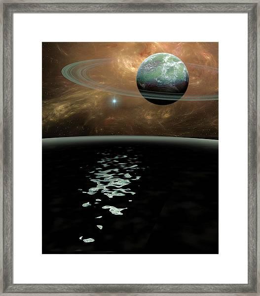 Green Planet Framed Print