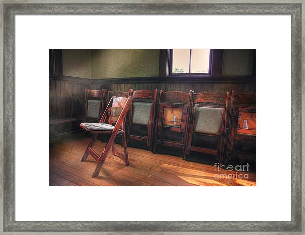 Green Seat Chair # 2 Framed Print
