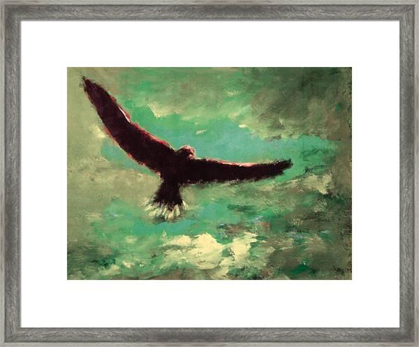 Green Sky Framed Print