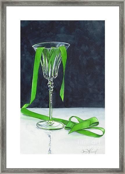 Green Spill Framed Print