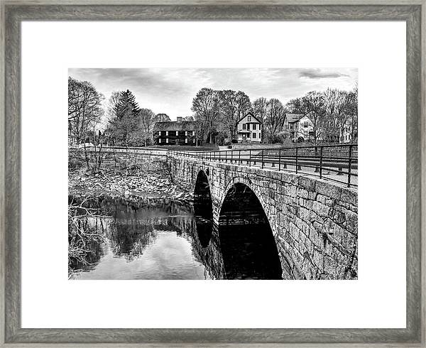 Green Street Bridge In Black And White Framed Print