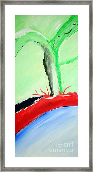 Green Tree Red Ridge Framed Print