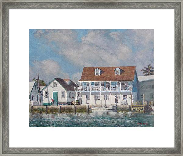 Green Turtle Cay Past And Present Framed Print
