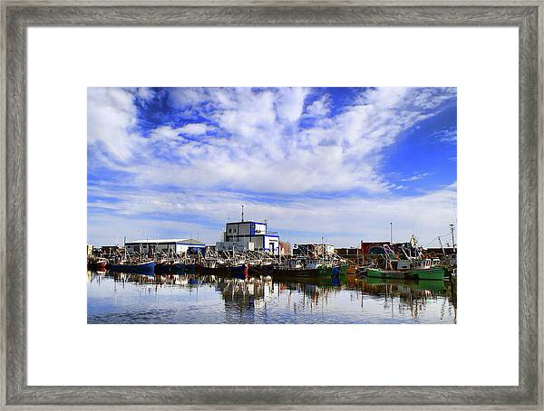 Greencastle Harbour Framed Print