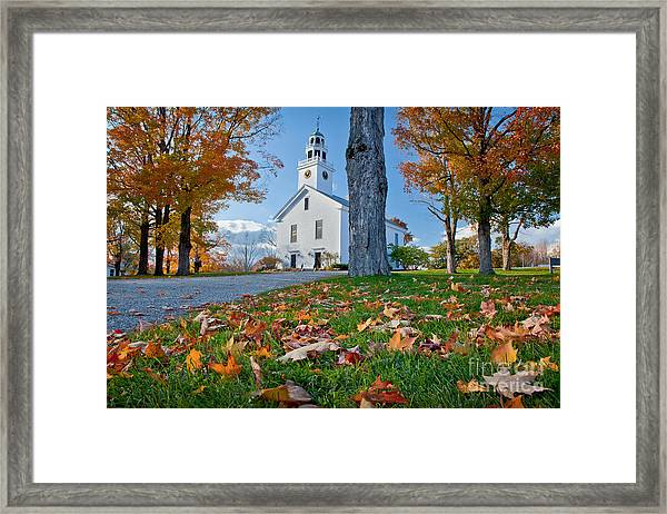 Framed Print featuring the photograph Greenfield Church by Susan Cole Kelly