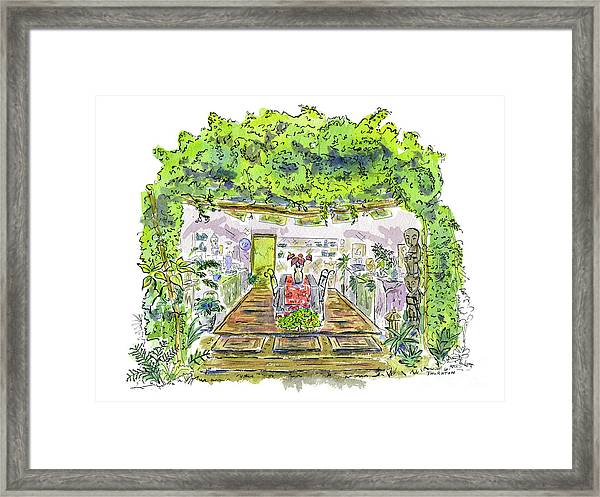 Greenhouse To Volcano Garden Arts Framed Print