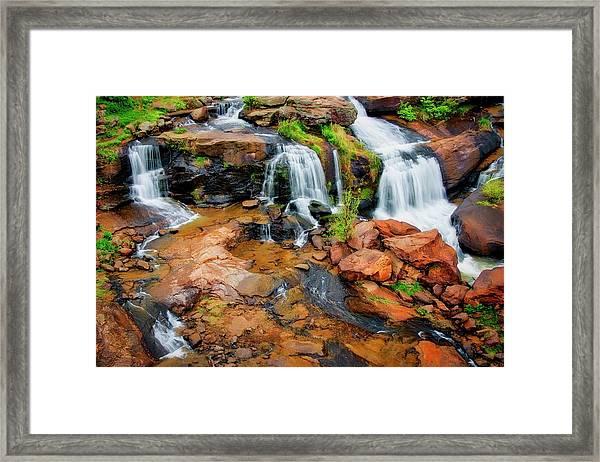 Greenville's Reedy River Falls, South Carolina Framed Print