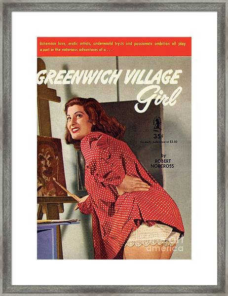 Greenwich Village Girl Framed Print