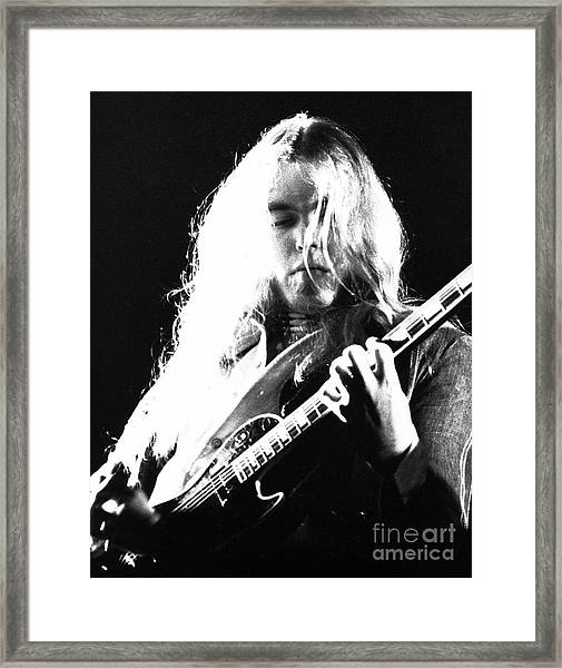Gregg Allman 1974 Framed Print by Chris Walter