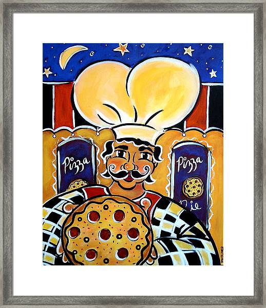 Gregorios Pizzeria Framed Print