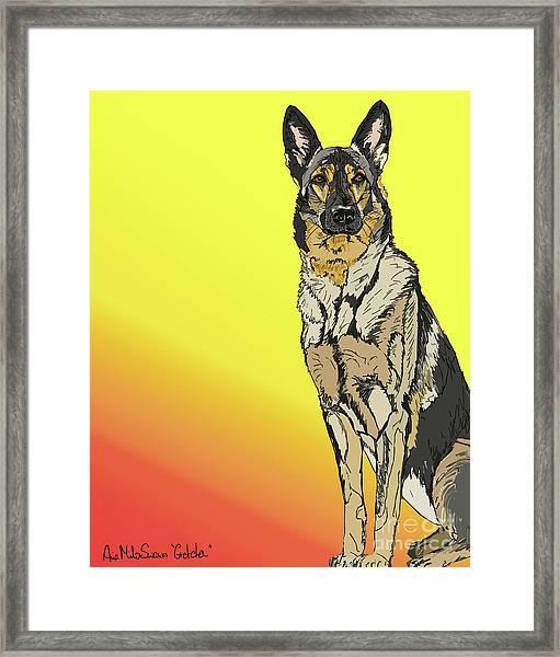 Gretchen In Digital Framed Print