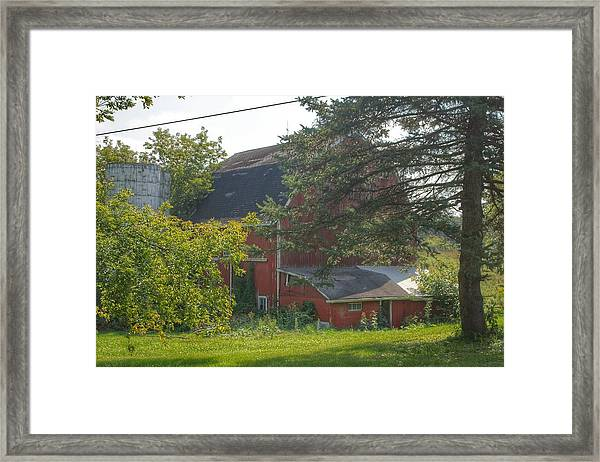 0015 - Grey Road Red I Framed Print