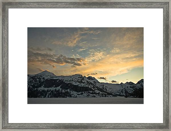 Grey Wolf Lake Framed Print