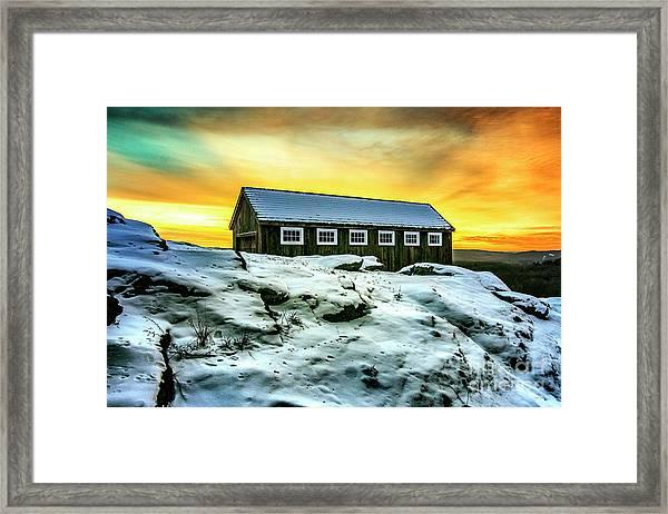Greyledge Full Color Sunrise Framed Print