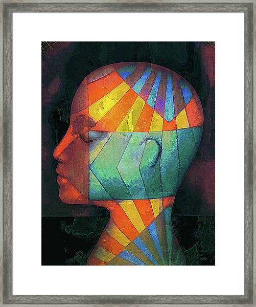 Grid Head 2 Framed Print