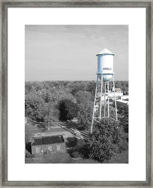 Framed Print featuring the photograph Gridley by Dylan Punke