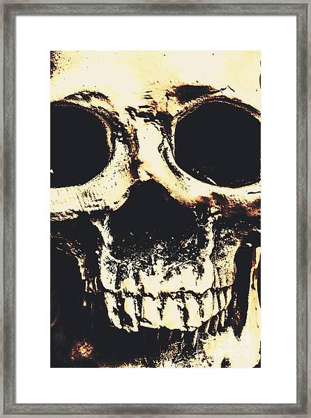Grim Grin Framed Print