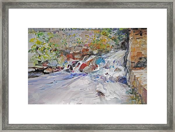 Grist Mill Spill Way Framed Print