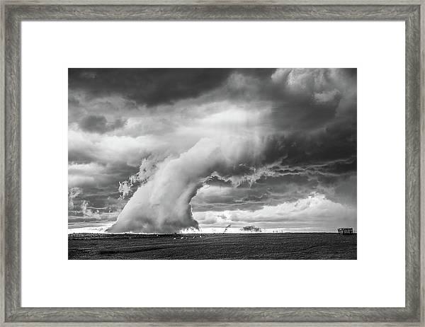 Groom Storm Bw Framed Print