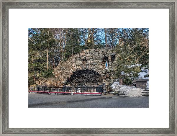Grotto At Notre Dame University Framed Print