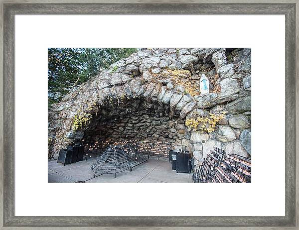 Grotto Of Our Lady Of Lourdes 2 Framed Print