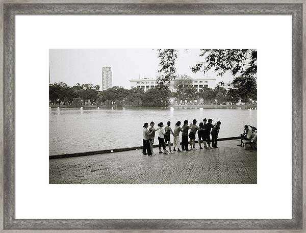 Group Massage Framed Print