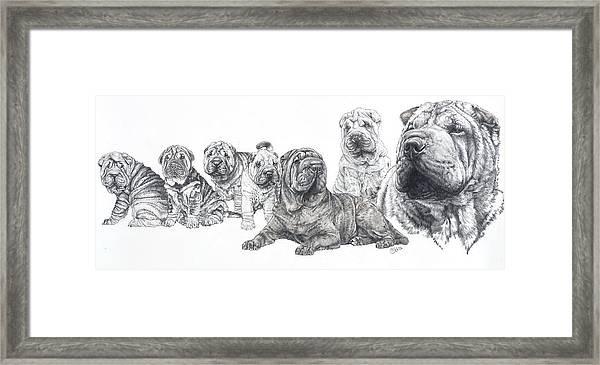 Mister Wrinkles And Family Framed Print